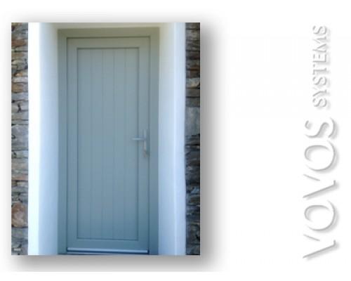 Πορτες εισοδου, Εξωπορτα ξυλινη με καθετο ραμποτε , νησιωτικη  εξωπορτα