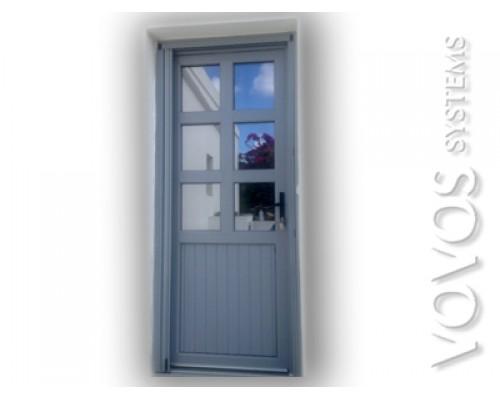 Πορτες  Κουζινας, Κουζινοπορτα συνθετικη pvc για νησιωτικο σπιτι στην Κυθνο