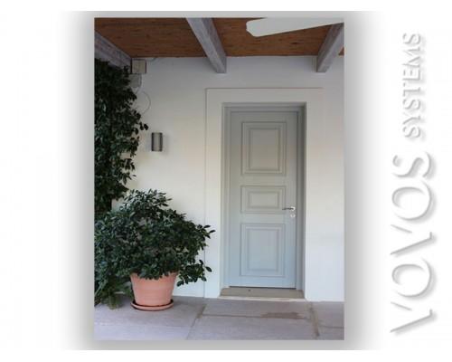 Παραδοσιακες Πορτες Εισοδου,  Ξυλινη Εξωπορτα με κορνιζες  Μυκονος
