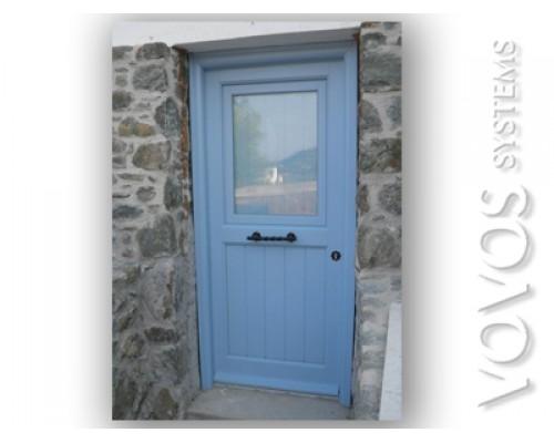 Ξυλινες Πορτες Κουζινοπορτες , Ξυλινη κουζινοπορτα  σε πετρινο νησιωτικο  σπιτι  στην Κιμωλο